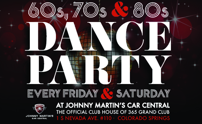 60s, 70s & 80s Dance Party at Johnny Martin's, every Friday and Saturday night